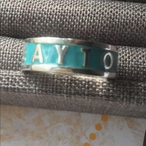 Sterling silver Greek ring